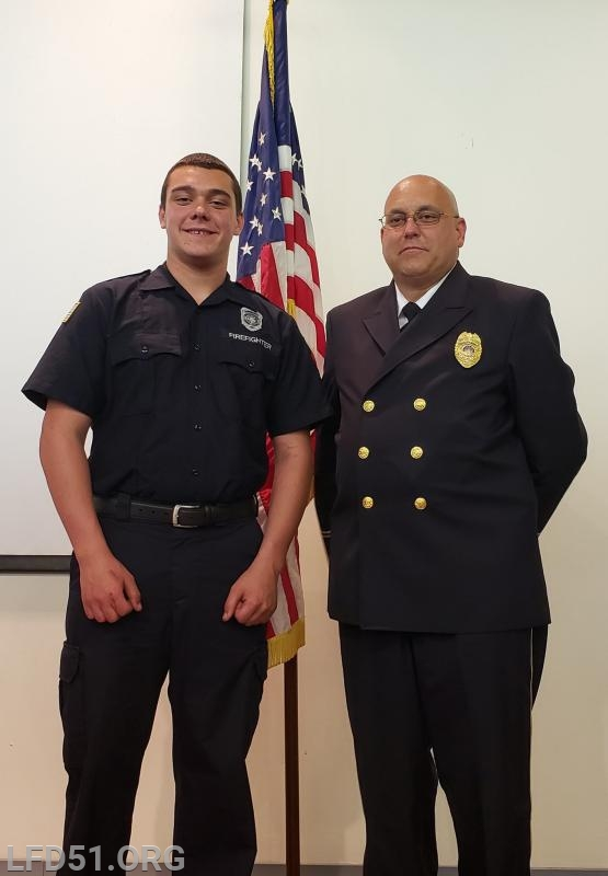 Zach and his Dad at FF I graduation which was held in May.